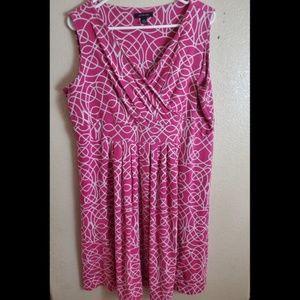 Lands End Plus Sleeveless Summer Paisley Dress 1X